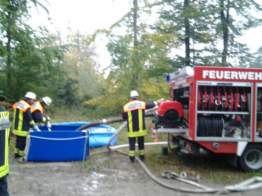 Waldbrandübung mit der Wehr aus Poppenhausen / Ehrenberg/ Gersfeld