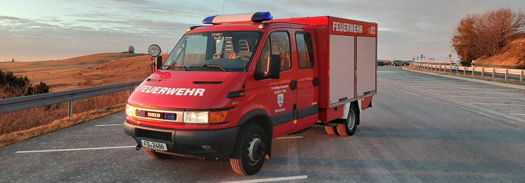 Das Einsatzfahrzeug der Freiwilligen Feuerwehr Gersfeld-Schachen