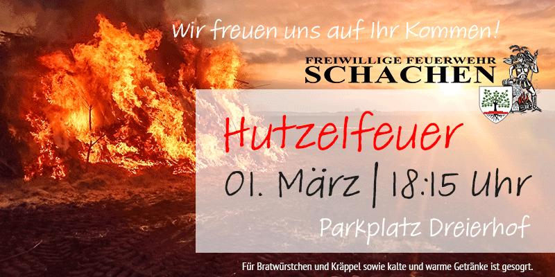 Hutzelfeuer 2020 in Gersfeld Schachen